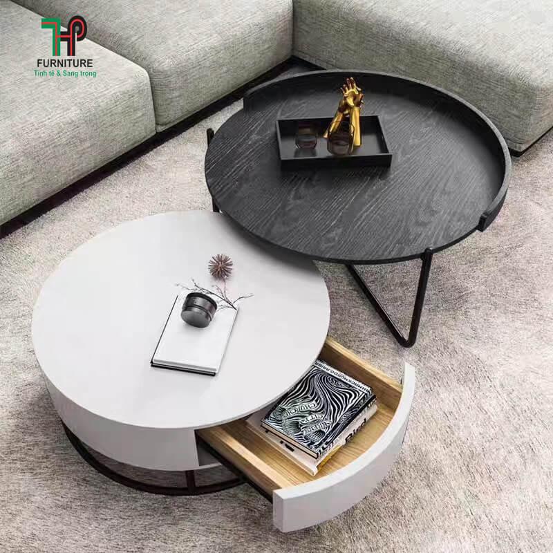 bàn trà kính hiện đại