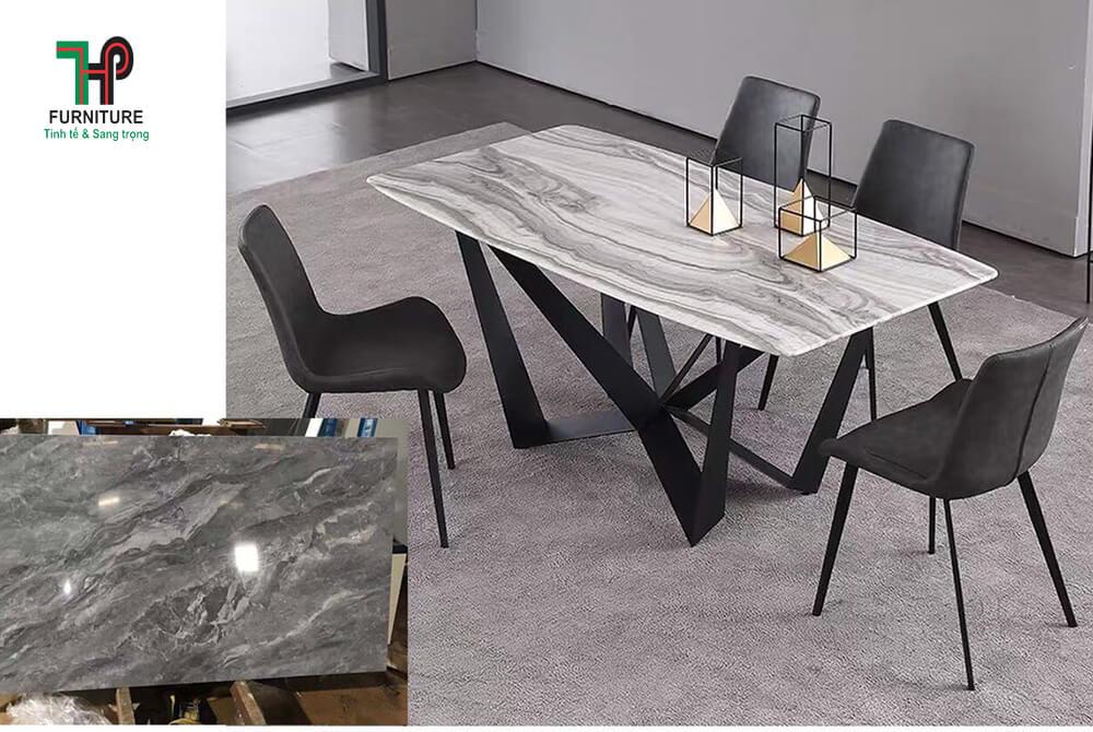 bàn ăn chân sắt sơn hiện đại (1)