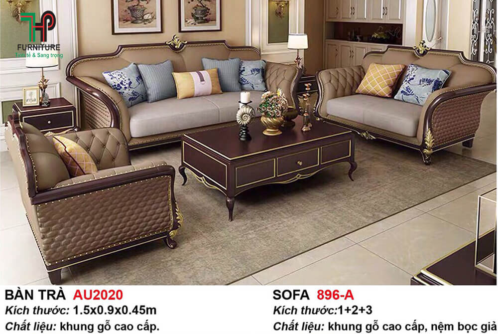 bộ sofa tân cổ điển nhập khẩu