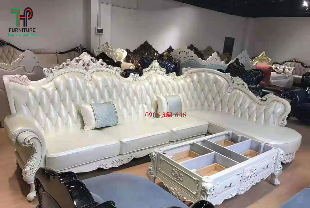 Ghế sofa da cổ điển