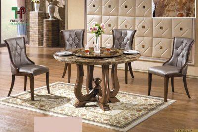 bàn ăn gỗ tròn đẹp