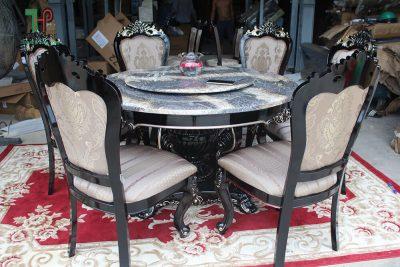 Bộ bàn ăn tân cổ điển