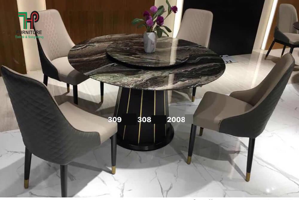 bàn ăn mặt đá tròn (1)