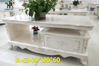 bàn trà cổ điển màu trắng