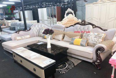 Sofa góc tân cổ điển đẹp tphcm