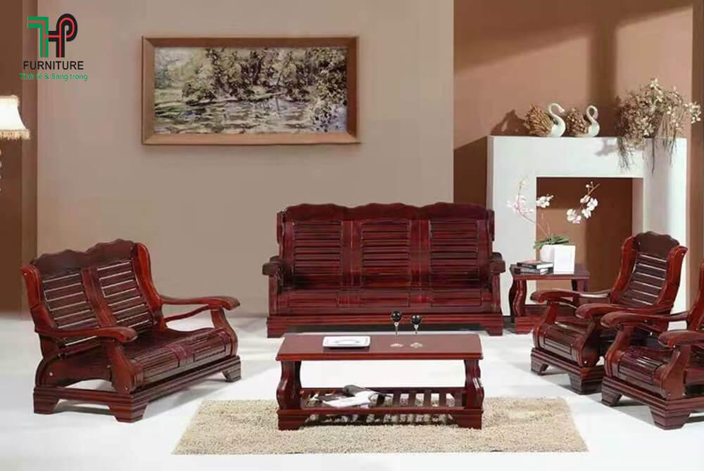 Bàn ghế sofa gỗ nhập khẩu cao cấp