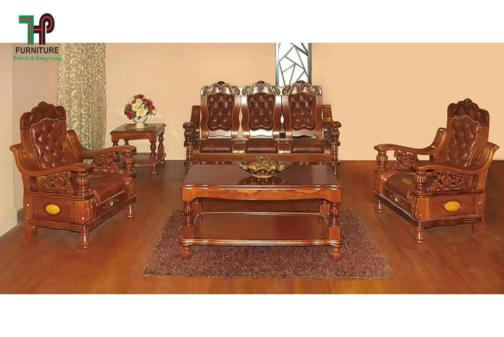 Bộ ghế sofa gỗ phòng khách