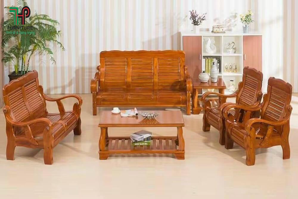 bộ bàn ghế gỗ phòng khách