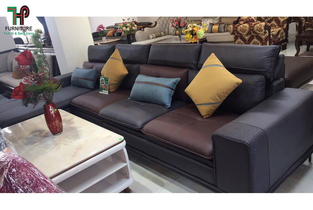 bộ sofa góc mẫu mới màu đen