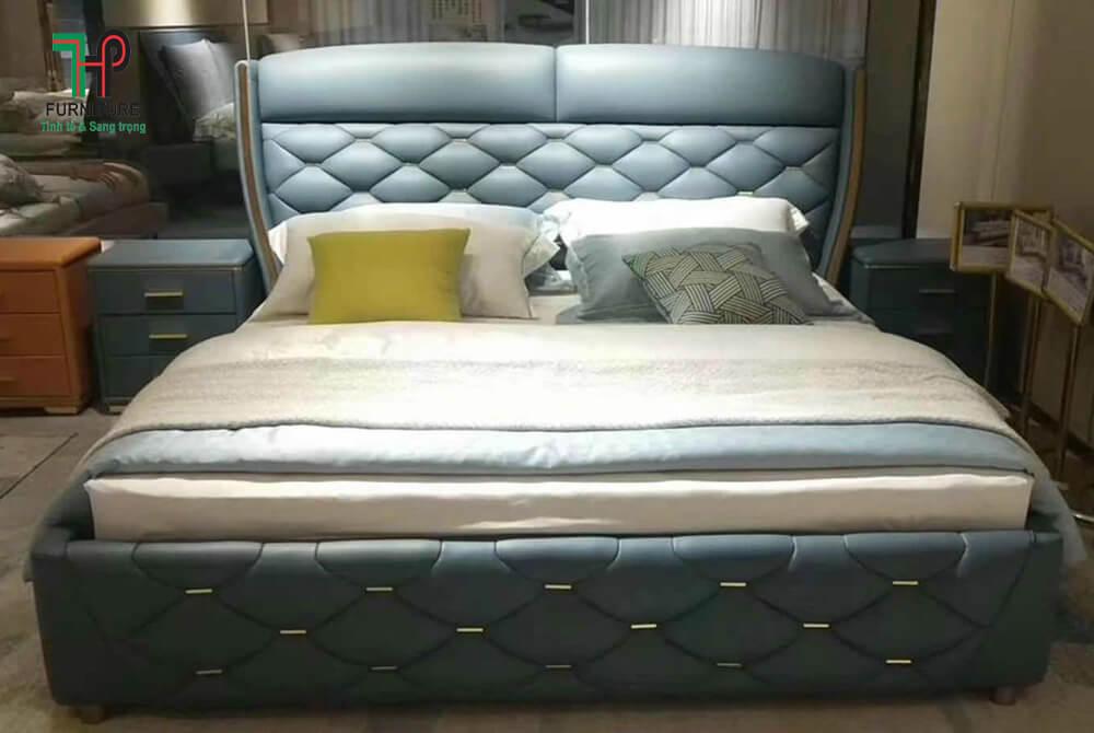 giường ngủ đầu bọc nệm
