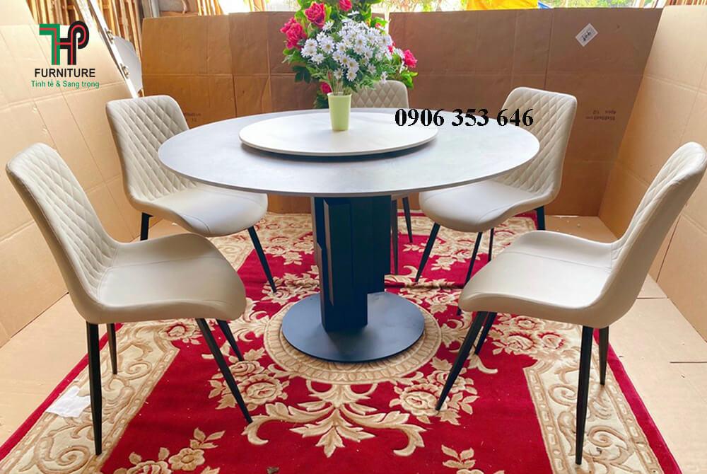 bàn ăn tròn hiện đại nhập khẩu