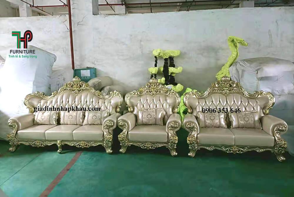 Bộ sofa da thật cao cấp nhập khẩu