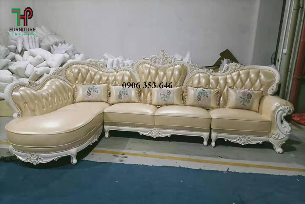 sofa da thật cổ điển nhập khẩu