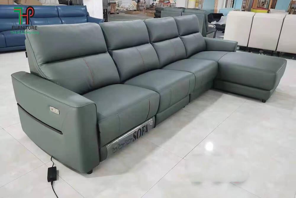 Sofa da thật có ghế thư giản