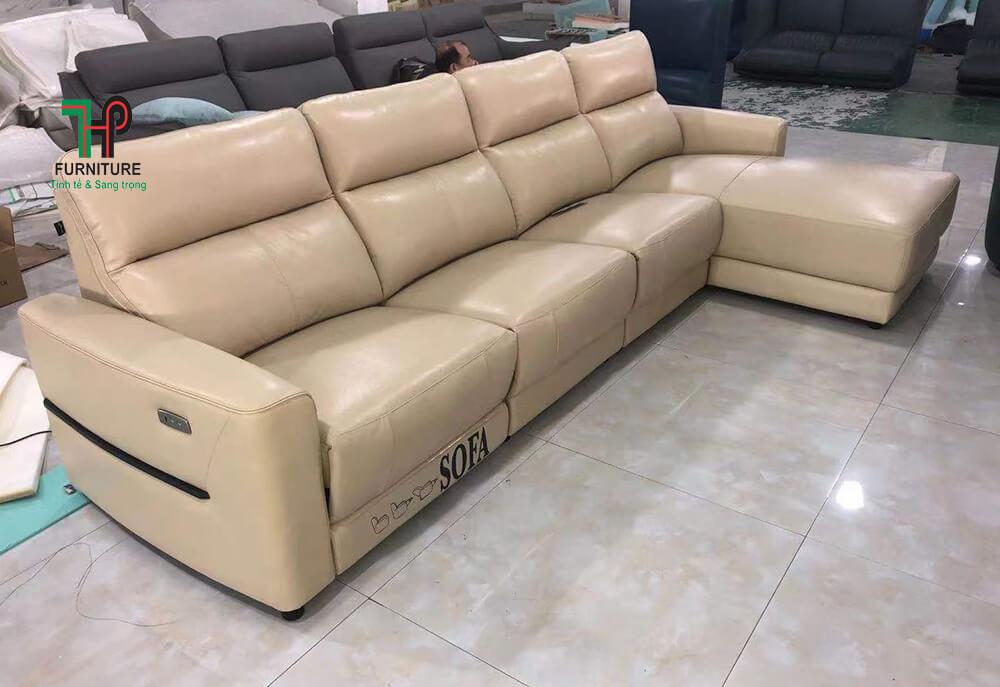Sofa góc da thật