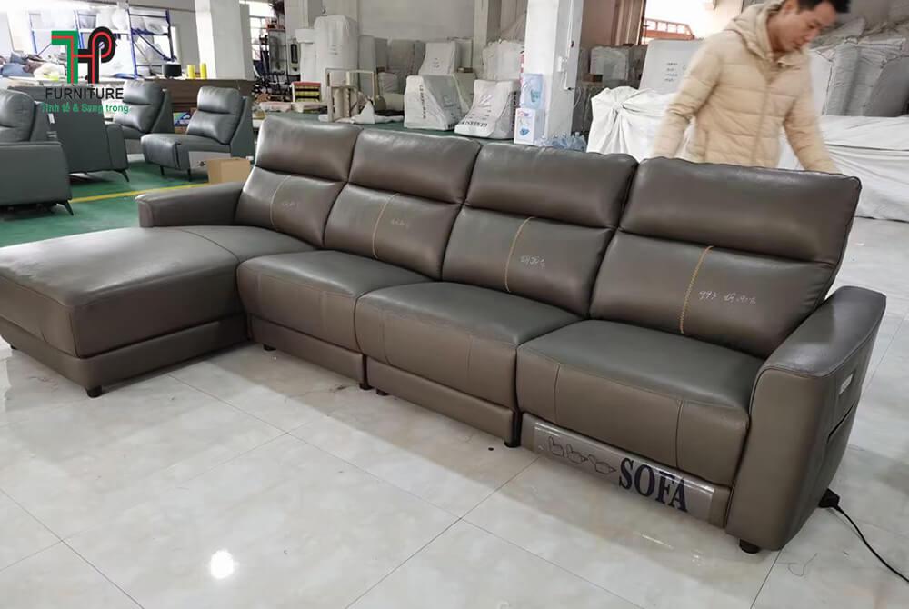 Sofa hiện đại da thật